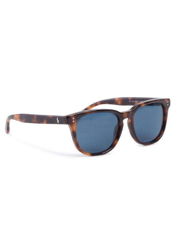 Brązowe okulary przeciwsłoneczne Polo Ralph Lauren