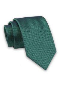 Alties - Butelkowy Zielony Elegancki Męski Krawat -ALTIES- 7cm, Stylowy, Klasyczny, Melanżowy. Kolor: zielony. Materiał: tkanina. Wzór: melanż. Styl: klasyczny, elegancki