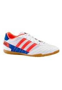 Buty halowe do piłki nożnej dla dorosłych Adidas SUPER SALA. Kolor: pomarańczowy, wielokolorowy, biały. Materiał: syntetyk, mesh, kauczuk, materiał. Wzór: gładki