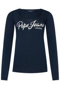 Pepe Jeans Bluzka Sue PL504710 Granatowy Regular Fit. Kolor: niebieski