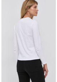 Victoria Victoria Beckham - Longsleeve bawełniany. Okazja: na co dzień. Kolor: biały. Materiał: bawełna. Długość rękawa: długi rękaw. Wzór: aplikacja. Styl: casual