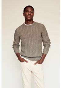 Sweter Mango Man na co dzień, długi, gładki