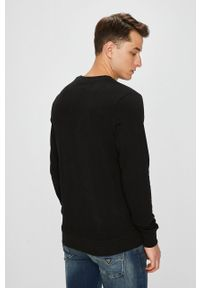 Czarna bluza nierozpinana Jack & Jones casualowa, gładkie