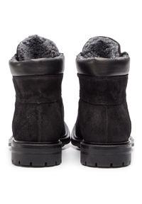 Czarne buty zimowe Gino Rossi z cholewką, casualowe, na co dzień