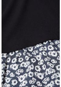 Czarna sukienka Mango Kids gładkie, z długim rękawem, mini, prosta