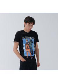 House - Koszulka Naruto - Czarny. Kolor: czarny
