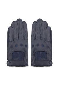 Niebieskie rękawiczki Wittchen z aplikacjami, eleganckie