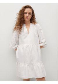 mango - Mango Sukienka codzienna Jane 87957877 Biały Relaxed Fit. Okazja: na co dzień. Kolor: biały. Typ sukienki: proste. Styl: casual