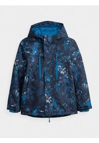 4f - Kurtka narciarska chłopięca (122-164). Kolor: niebieski. Materiał: materiał, poliester. Sezon: zima. Sport: narciarstwo
