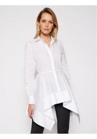 Biała tunika Karl Lagerfeld z dekoltem karo