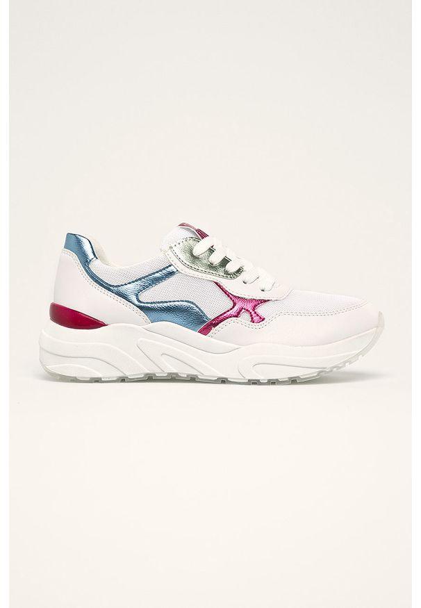 Białe buty sportowe Marco Tozzi z cholewką