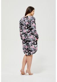 Sukienka MOODO prosta, casualowa, na co dzień, w kwiaty