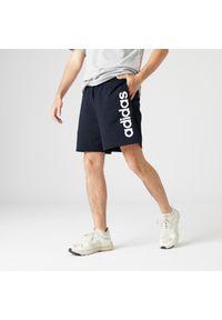 Adidas - Spodenki fitness męskie. Materiał: bawełna, poliester. Sport: fitness