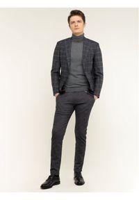 Roy Robson Spodnie materiałowe 944-51 Szary Regular Fit. Kolor: szary. Materiał: materiał