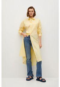 mango - Mango - Sukienka FRESH. Okazja: na co dzień. Kolor: żółty. Materiał: tkanina. Długość rękawa: długi rękaw. Typ sukienki: proste. Styl: casual