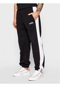 PLNY Textylia - PLNY LALA Spodnie dresowe Stanford PT-SP-K2-00003 Czarny Regular Fit. Kolor: czarny. Materiał: dresówka