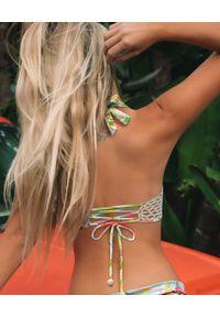 DEL MAAR - Top od bikini z szydełkowym pasem. Kolor: niebieski. Materiał: materiał