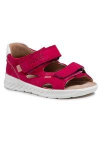 Superfit - Sandały SUPERFIT - 1-000510-5000 S Rot/Orange. Kolor: różowy. Materiał: skóra, nubuk, zamsz. Sezon: lato