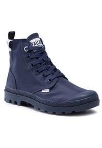 Niebieskie buty zimowe Palladium z cholewką