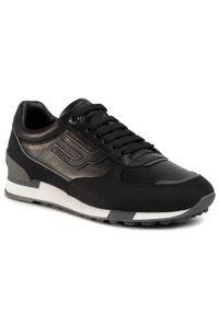 Czarne sneakersy Bally na co dzień, z cholewką