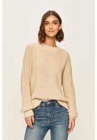Kremowy sweter Vero Moda na co dzień, casualowy
