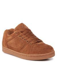 Brązowe buty sportowe Es z cholewką