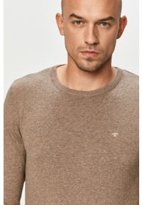 Brązowy sweter Tom Tailor Denim casualowy, na co dzień