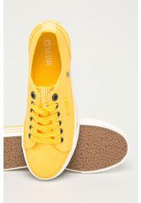 Big-Star - Big Star - Tenisówki. Nosek buta: okrągły. Zapięcie: sznurówki. Kolor: żółty. Materiał: guma. Obcas: na platformie