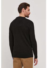 Czarny sweter Selected casualowy, gładki, na co dzień