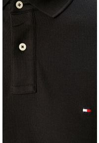 Czarna koszulka polo TOMMY HILFIGER krótka, polo