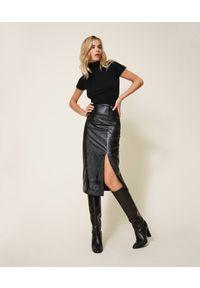 Czarna spódnica TwinSet z podwyższonym stanem, klasyczna