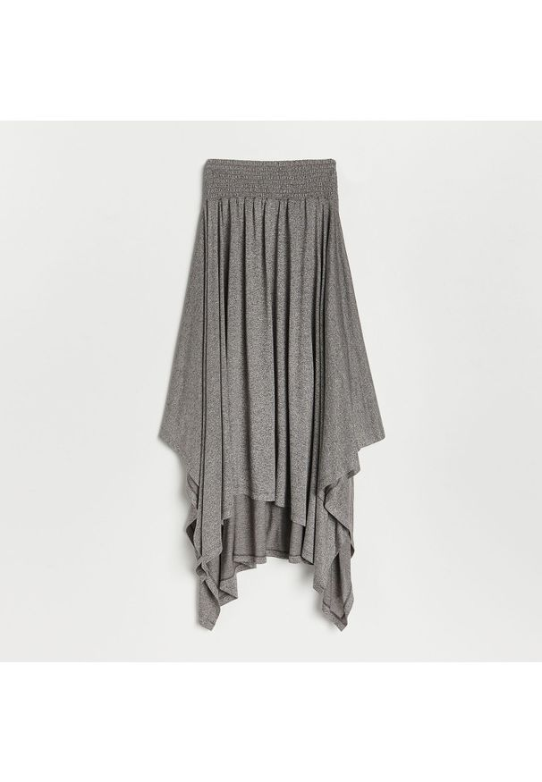 Reserved - Asymetryczna spódnica - Szary. Kolor: szary