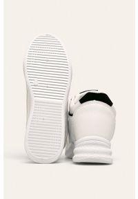 Białe buty sportowe ANSWEAR z okrągłym noskiem, z cholewką