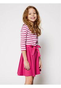 Różowa sukienka Polo Ralph Lauren prosta, polo, na co dzień, casualowa