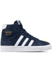 Niebieskie półbuty Adidas na co dzień, z cholewką, casualowe