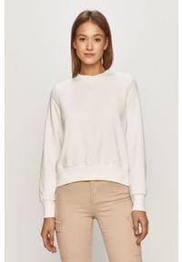 Biała bluza Noisy may z długim rękawem, długa, bez kaptura
