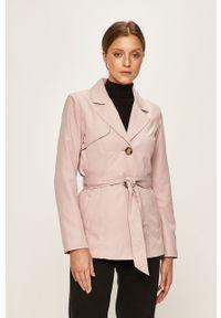 Fioletowy płaszcz only casualowy, na co dzień
