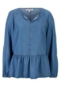 Bluzka dżinsowa TENCEL™ Lyocell bonprix jasnoniebieski. Kolor: niebieski. Materiał: lyocell. Styl: elegancki