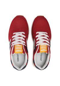 Jack & Jones - Sneakersy JACK&JONES - Jrstellar Mesh 2.0 12184687 Red Dahila. Okazja: na spacer, na co dzień. Kolor: czerwony. Materiał: skóra ekologiczna, materiał. Szerokość cholewki: normalna. Sezon: lato. Styl: casual. Sport: turystyka piesza