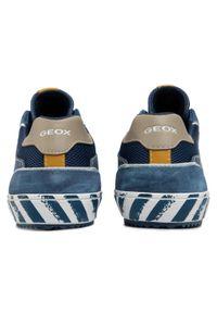 Geox - Sneakersy GEOX - J Alonisso B. E J022CE 0NB22 C4289 S Avio/Beige. Okazja: na uczelnię, na spacer, na co dzień. Kolor: niebieski. Materiał: skóra, zamsz, materiał. Szerokość cholewki: normalna. Styl: casual
