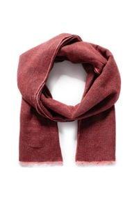 Pierre Cardin - Szal PIERRE CARDIN - 99173/000/2908 Oxblood 5200. Kolor: czerwony. Materiał: poliamid, wełna, materiał, bawełna