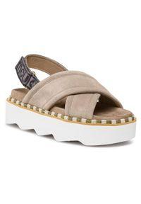 Szare sandały Mou