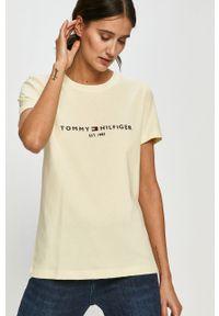 Żółta bluzka TOMMY HILFIGER casualowa, na co dzień