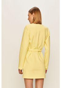Żółta sukienka Local Heroes casualowa, z długim rękawem, na co dzień, mini