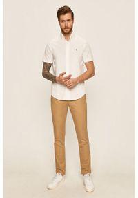 Biała koszula Polo Ralph Lauren casualowa, button down, krótka, na co dzień