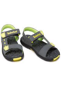 Timberland - Sandały TIMBERLAND - Moss Jump 2 Strap Sandal TB0A42B90331 Medium Grey. Kolor: szary. Materiał: materiał. Sezon: lato. Styl: klasyczny