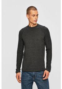 Szary sweter Blend raglanowy rękaw, na co dzień