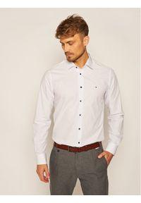 Biała koszula biznesowa TOMMY HILFIGER z nadrukiem