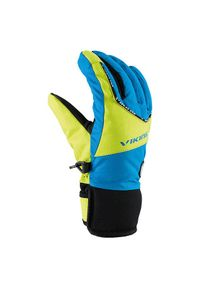 Rękawice Viking Fin Jr 120 19 9753. Materiał: włókno, poliester, neopren, syntetyk. Sezon: zima. Sport: turystyka piesza