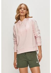 Różowa bluza Adidas na co dzień, casualowa, gładkie, z kapturem